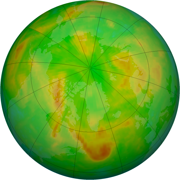 Arctic ozone map for 14 June 2003